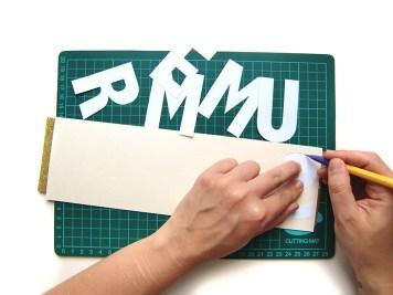 DIY - banderole de fete - wundertute coupe lettres 1
