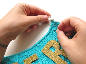 DIY - banderole de fete - wundertute fil or 1