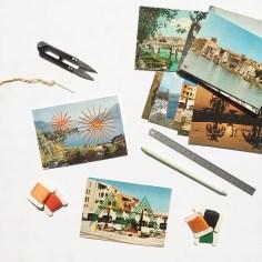 Cartes postales brodées