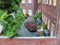 Stadthäuser-Hinterhof
