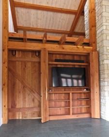 WunderWoods cherry TV cabinet open Augusta