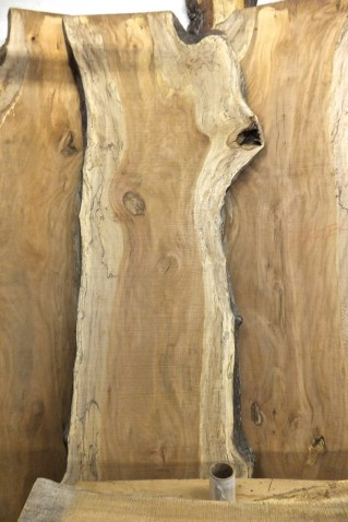 WunderWoods live natural edge spalted sycamore table top slab