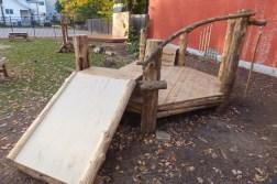 WunderWoods natural cedar white oak slide playground