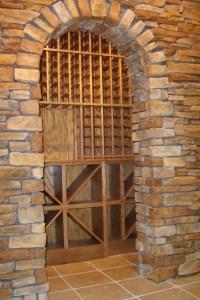 WunderWoods oak wine cellar arch stone doorway