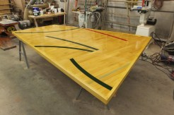 WunderWoods reclaimed basketball gym floor conference table top