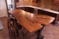 WunderWoods Siberian elm crotch natural live edge slab table top finished