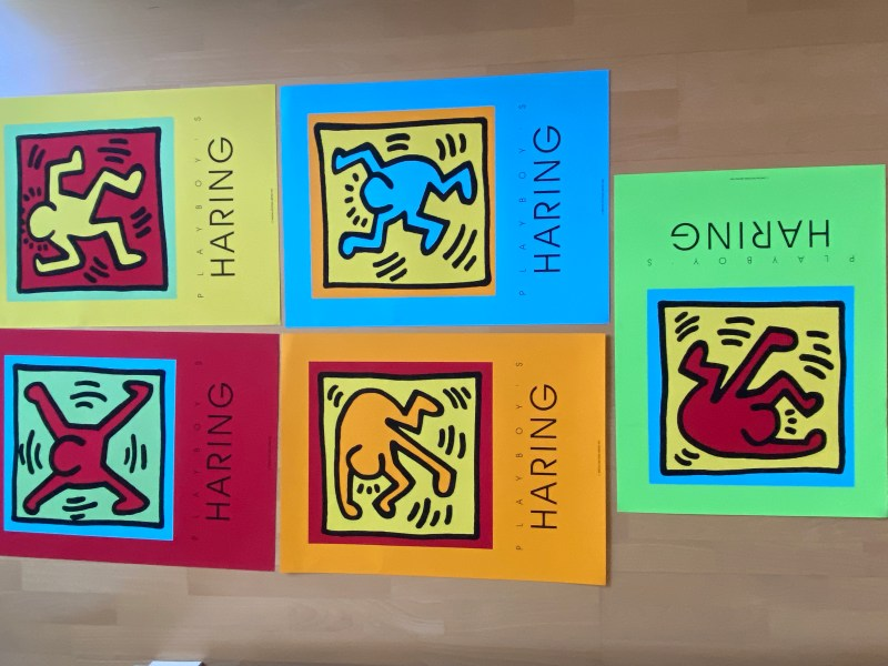 5x keith haring dancer playboy edition poster