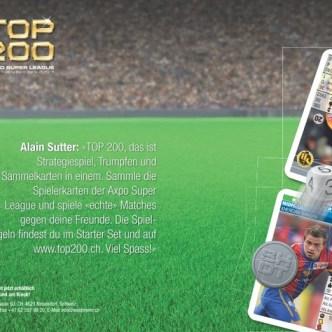 Handel: Bewerbung des Sammelkartenspiels Top 200 der SuperLeague für Waldmeier AG