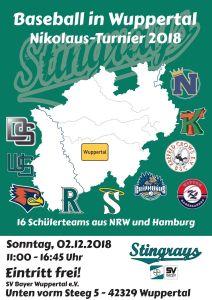 Wuppertal Stingrays Baseball Nikolausturnier 2018