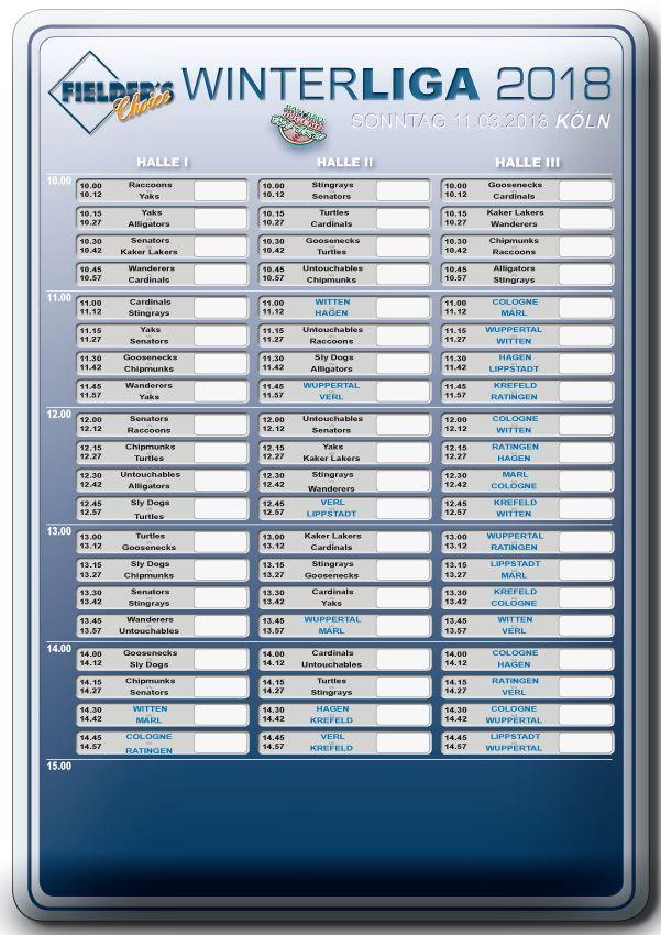 Fielder's Choice Winterliga 2018 Spieltag 5 Köln