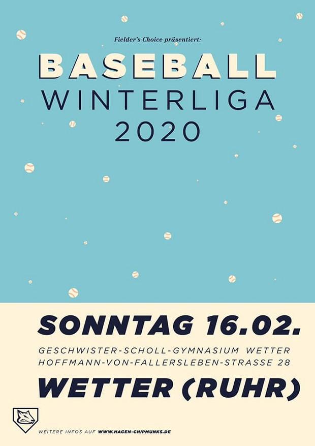 FieldersChoice Baseball-Winterliga 2020 - U15 - Spieltag 2 - Wetter
