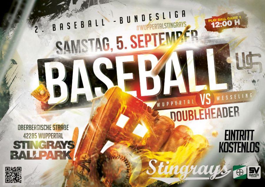 2. Baseball Bundesliga - Wuppertal Stingrays vs Wesseling Vermins - 05.09.2020