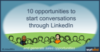 LinkedIn Lead Generation 10 opportunities to start sales conversations