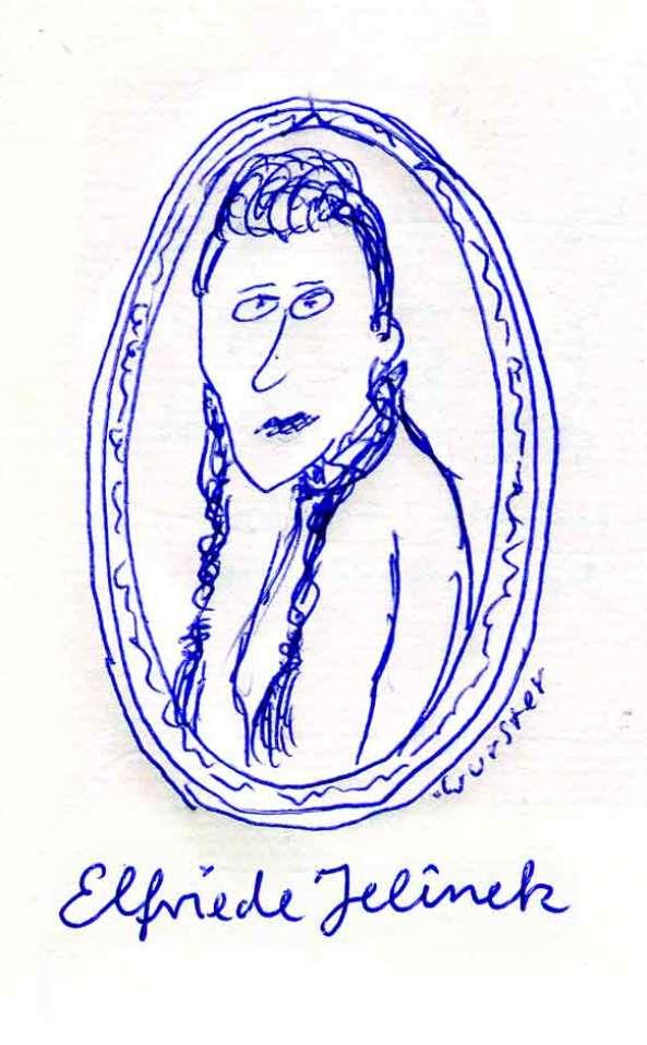 Elfriede Jelinek Schriftstellerin Autorin Porträt
