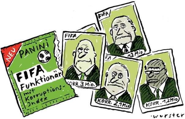 Panini Spezial: FIFA Funktionär mit Korruptionsindex