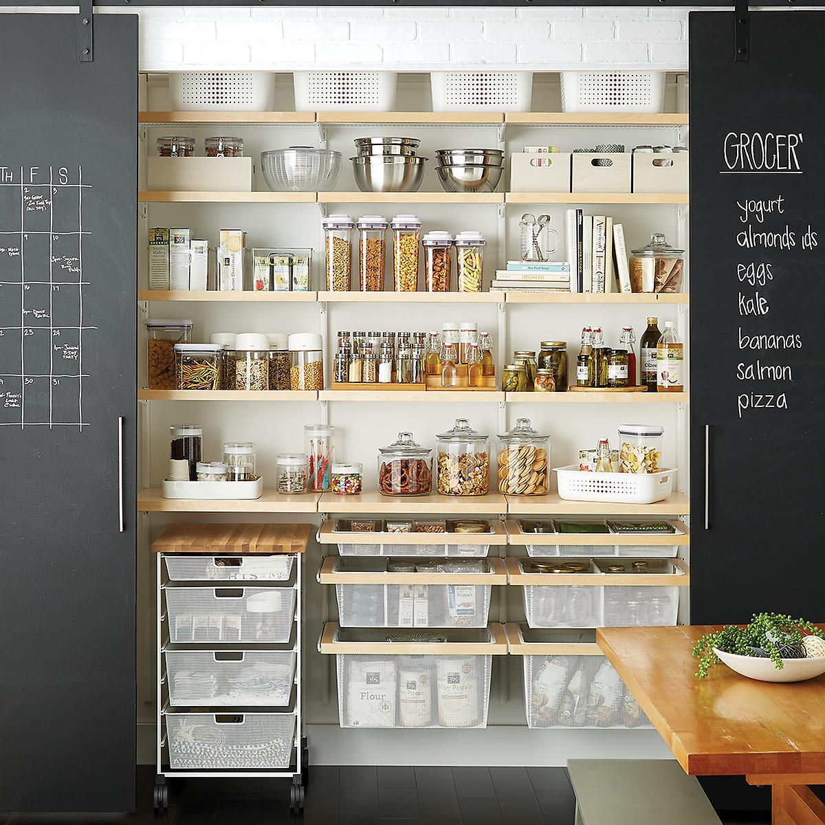 Elfa Solution Reach In Pantry Birch And White