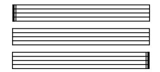 琴譜上的小節線