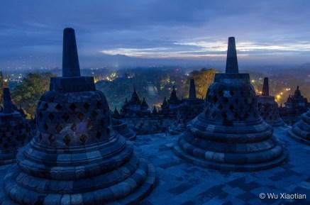 Daybreak in Borobudur
