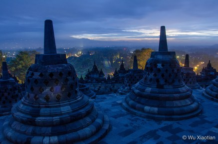 Daybreak in Borobudur