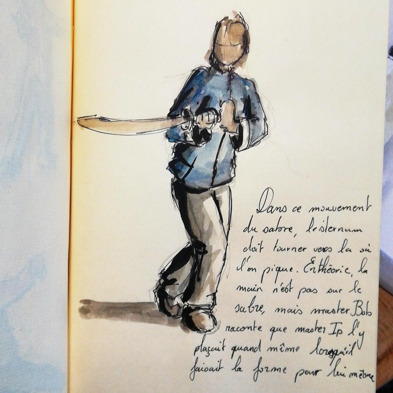Illustration taiji quan par Antoine Monnier