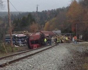 logging truck and train accident on Cheat Mountain (2)