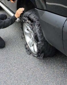 wheel after tire explosion