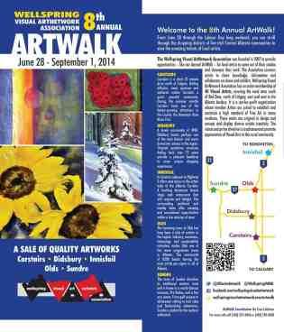 ArtWalk Map Cover 2014