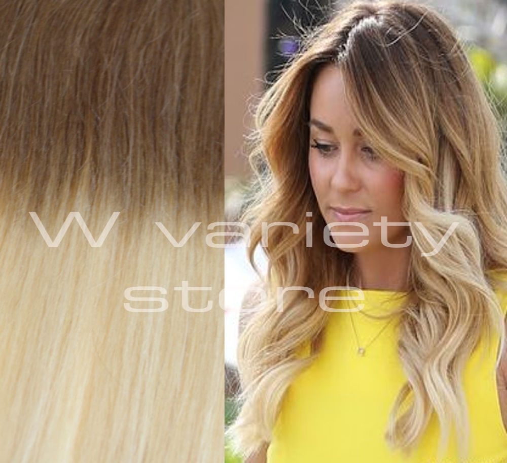 26 Thick Ombre Balayage 6613 Brown Blonde Remy Human Hair Extensions