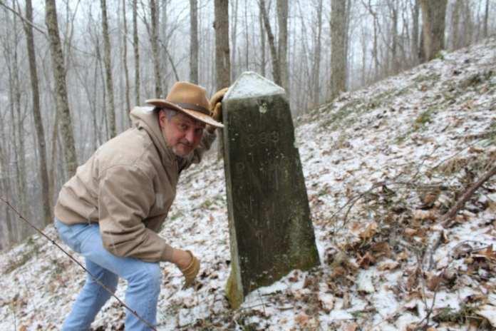 David Sibray visits the monument that bases the base base behind West Virginia.