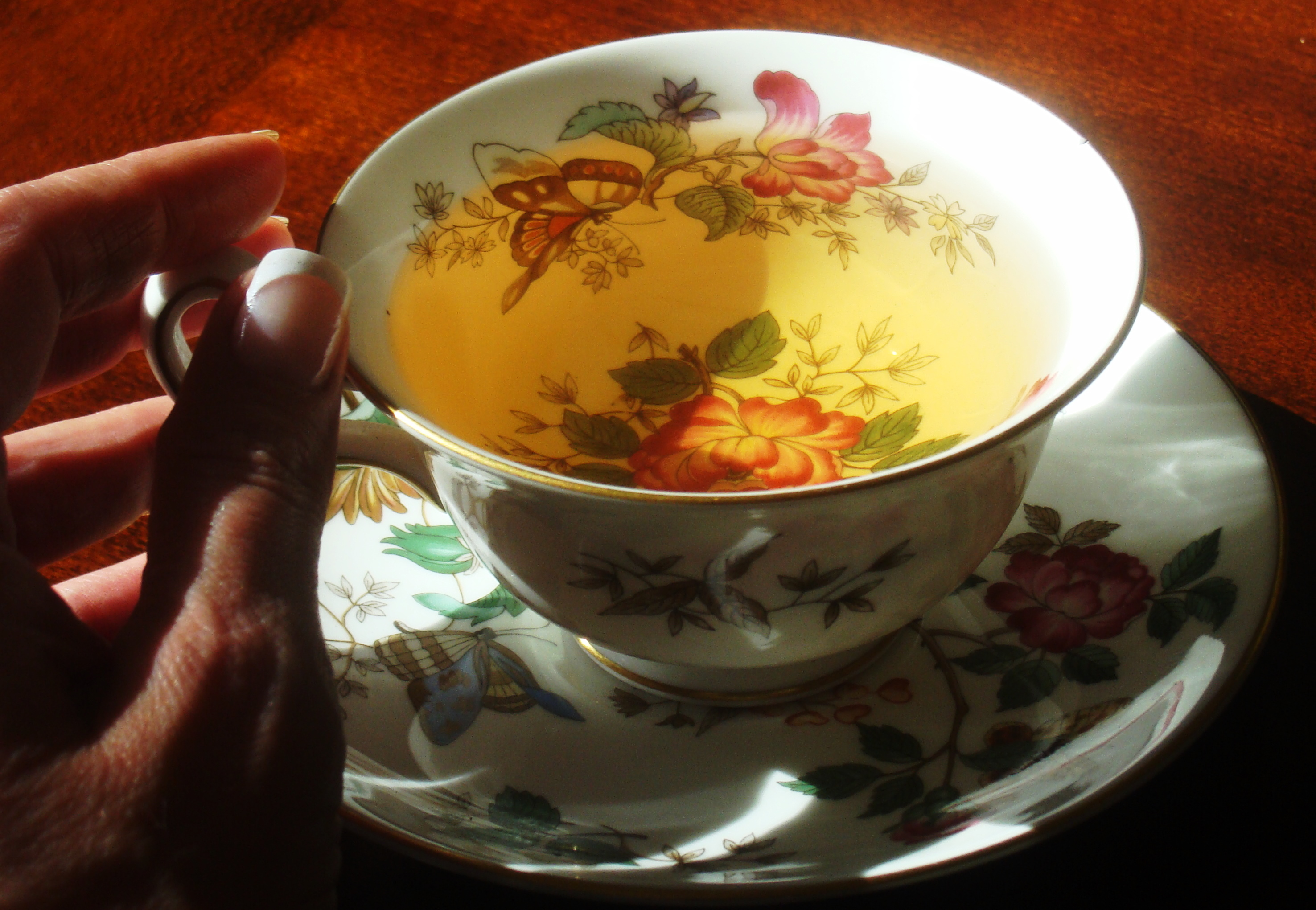 Tea can provoke a need for candlelight.