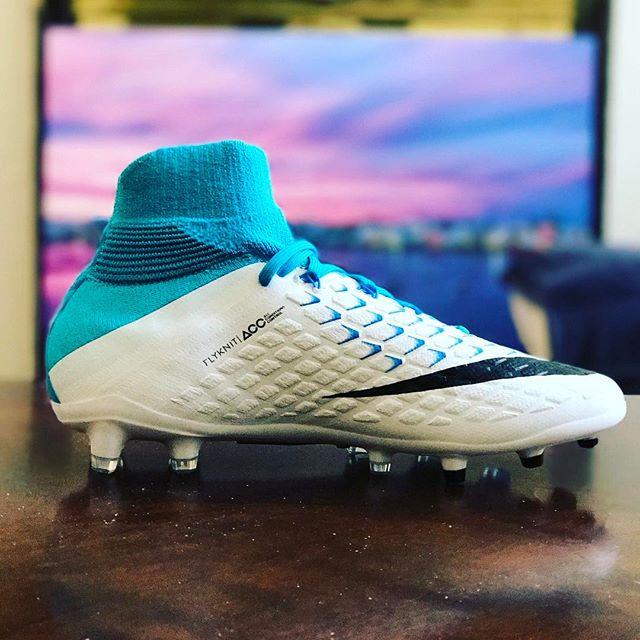 The latest footwear for my baller. #bermuda #football #postseason #nike