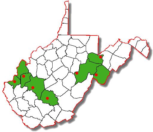 Counties hosting WVMTR races