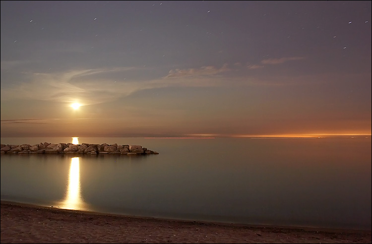 Moon at the Beach