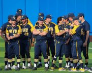 WVU Baseball Team April 6, 2021 Photo by David Hague/WVSN