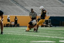Kicker Evan Staley. WVU Athletics