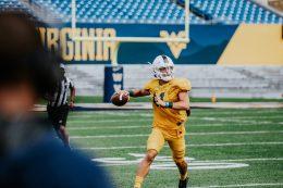 Quarterback Garrett Greene. WVU Athletics