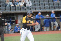 WVU third baseman Alec Burns against Pitt at Mon County Ballpark on May 5, 2021. Cody Nespor/WVSportsNow