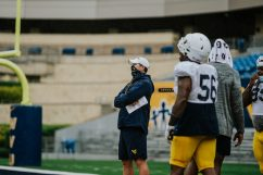 Defensive line coach Jordan Lesley. WVU Athletics