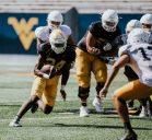 Running back Tony Mathis Jr. WVU Athletics