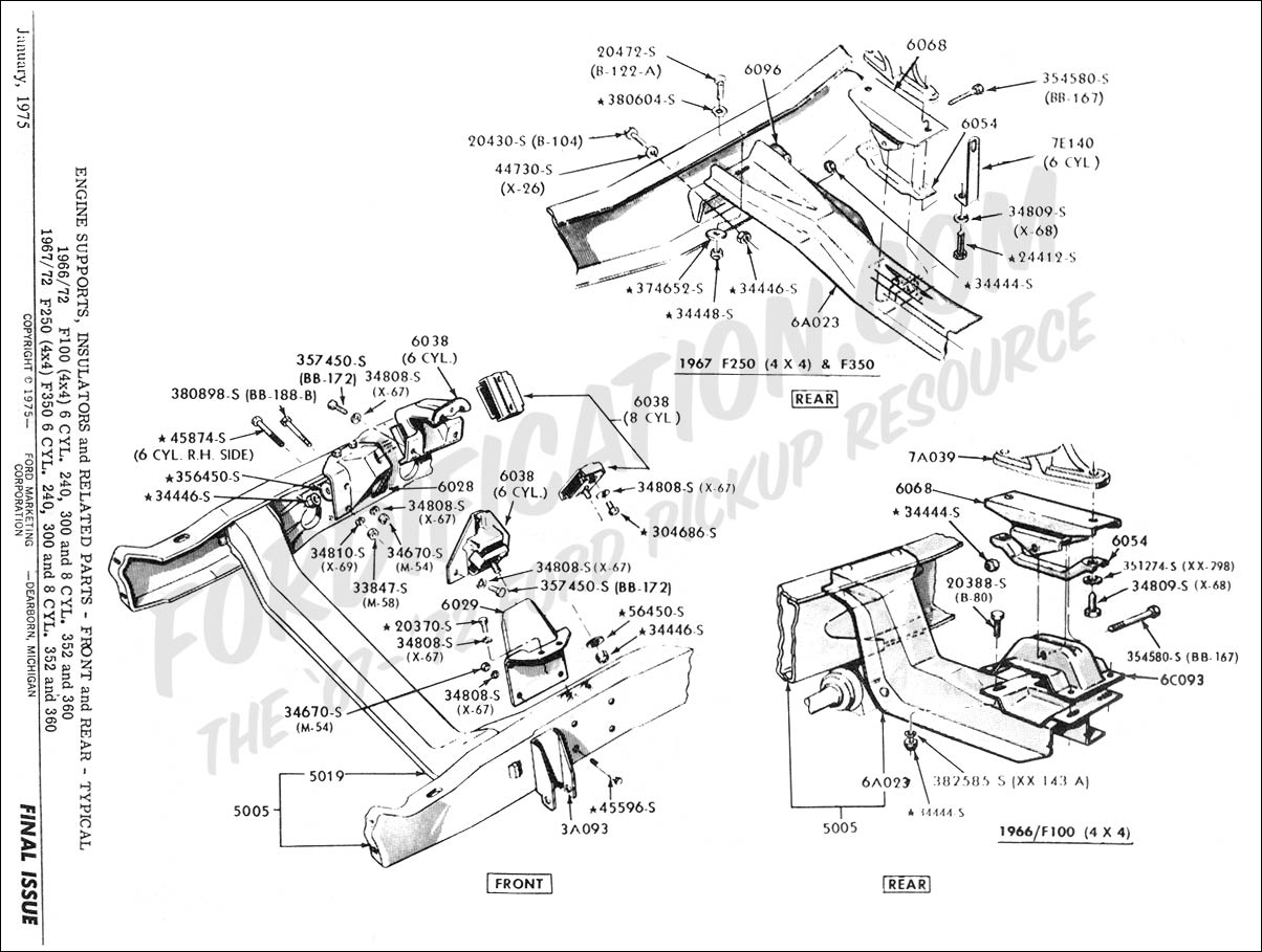 Ford 300 Inline 6 Diagram