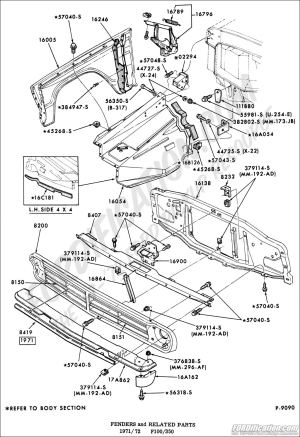 Ford Truck Technical Drawings and Schematics  Section D  Frame, Body and Related Components