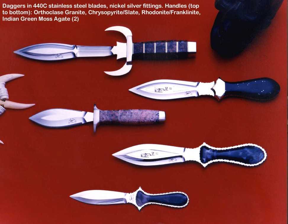 Fine Handmade Daggers Athames Athanes Double Edged