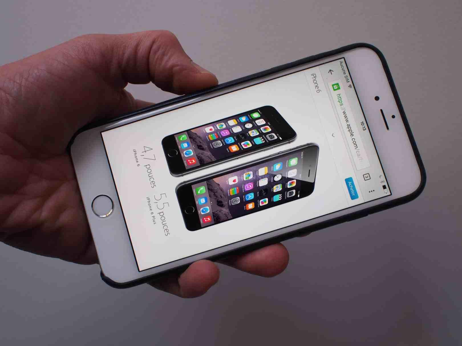 téléphone iPhone 6 plus apple