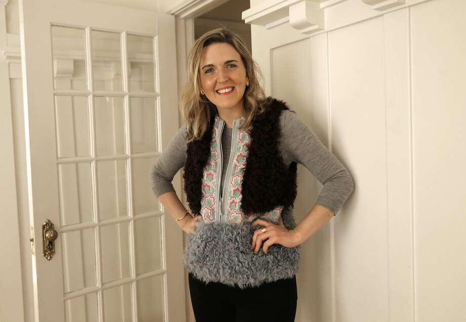 Mary Doyle models a Giambi, bordeaux fur vest at her home on Fri. March 18,  2016, in San Francisco, California. Doyle has been using Rent the Runway an online business that rents designer fashions for special events. Photo: Michael Macor, The Chronicle