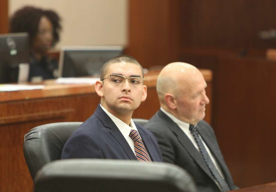 Opening statements in assault trial of Eddie Herrera, accused of choking his prom date to death during rough sex last year. Photo: Steve Gonzales / Houston Chronicle