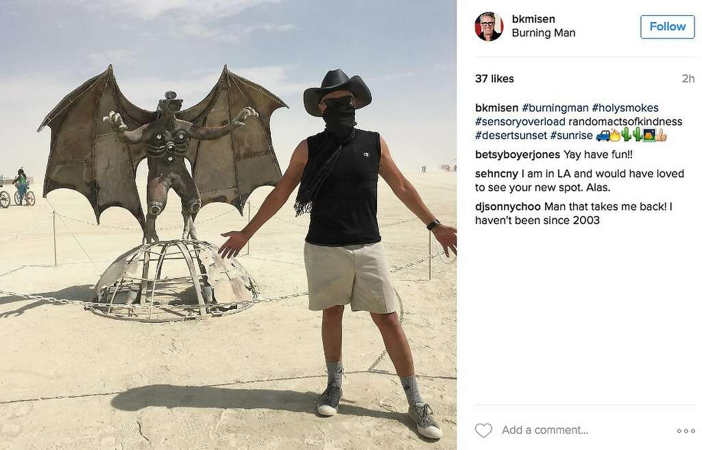 The Batman of Black Rock. Photo: Instagram Screenshot