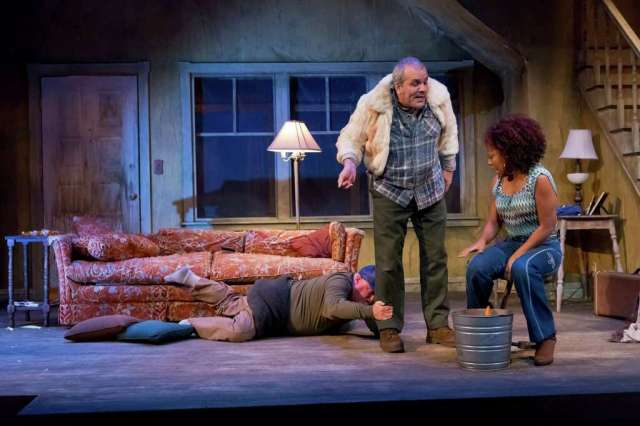 "From left, Rutherford Cravens, Greg Dean and Candice D'Meza in ""Buried Child,"" at the MATCH through Oct. 1. Photo: Anthony Rathbun/Catastrophic Theatre / Anthony Rathbun Photography"
