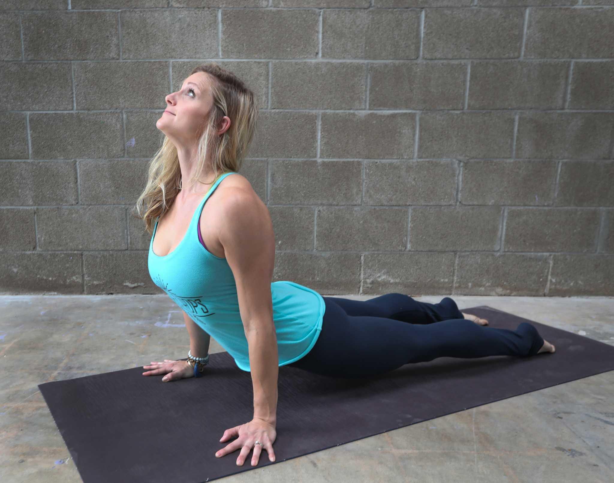 Houston Chronicle Yoga Challenge Day 11 Upward Facing Dog