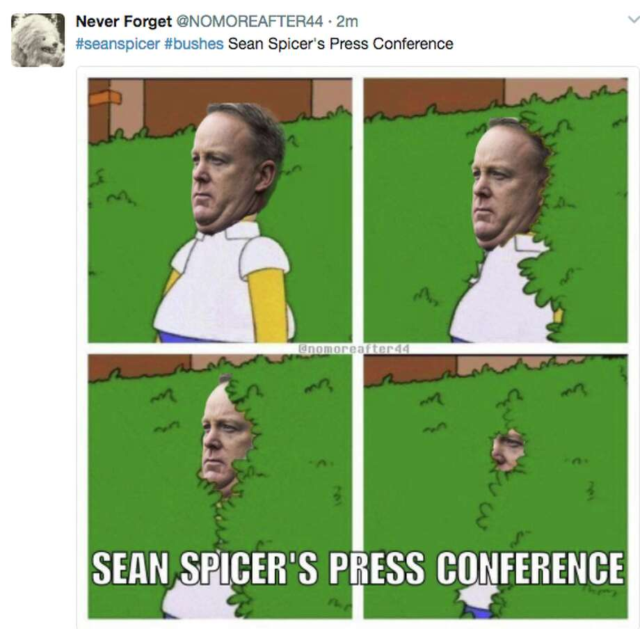 Image result for SEAN SPICER BUSHES