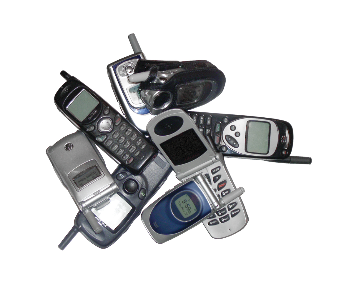 Old used phones (wow, I didnt know some of these existed anymore 0.0)